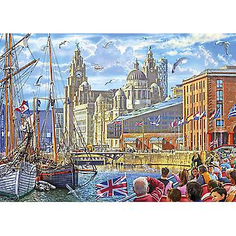 Gibsons Albert Dock, Liverpool Jigsaw Puzzle (1000 pièces)