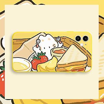 Ne frappera pas la coquille huawei nova7 mignon super mignon fille créative pomme 12 beurre 11 pain grillé étui de téléphone mobile x
