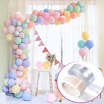 100 Stücke Latex Farbige Ballons, Mit10M Doppelloch Ballonband & 100 Klebepunkte Ballonkette für