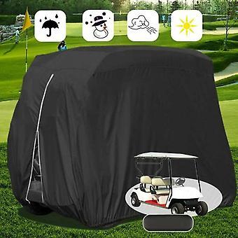 (M 275x122x168cm) Imperméable à l'eau Coupe-vent Golf Club Cart Buggy Cover Protector Sac d'emballage étanche à la poussière