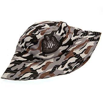 Newcastle United FC Childrens/Kids Camo Bucket Hat