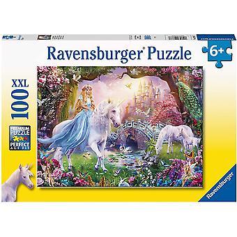 Ravensburger 12887 Magisk Enhjørning 100 Puslespill Ekstra Store Stykker