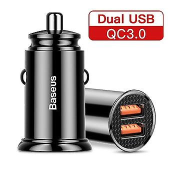 30W usb car charger quick charge 4.0 3.0 fcp scp afc usb pd fast charging car phone charger for huawei xiaomi iphone 12