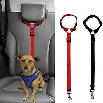 Pet Hund Kat Sikkerhedssele Justerbar Sele Sikkerhedssele Bly Snor til små mellemstore hunde Travel Clip Pet Supplies 9 Color