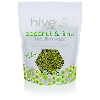 Hive Of Beauty Coconut & Lime Waxing Hot Wax Pellets With Beeswax 700g x 3