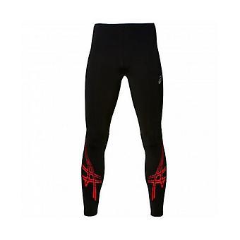 Sports Leggings for Men Asics Stripe Tight Black
