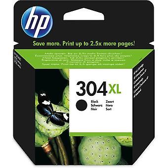 HP 304XL Black Original Ink Cartridge, High (XL) Yield, Pigment-Based Blaze