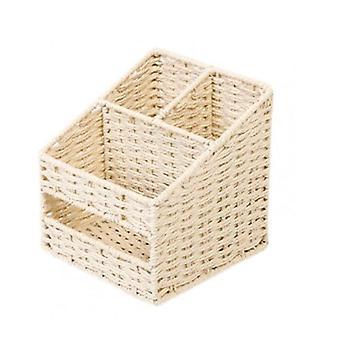 Aufbewahrungsbox Umweltfreundliche große Kapazität japanischer Stil 3 Grids Verschiedene Desktop-Container für Office