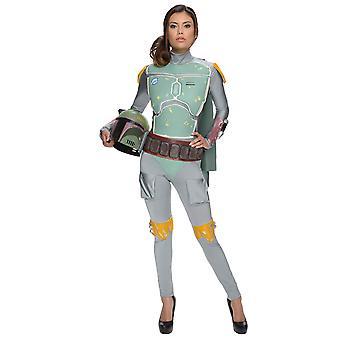 Kvinnelige Boba Fett Star Wars-filmen lisensiert kvinner drakt