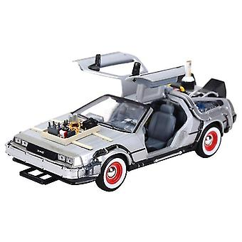 Toy cars 1:24 dmc delorean back to the future car static die cast vehicles collectible model car toys silver