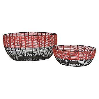 Plutus Brands Metal Basket in Multi-Colored Metal Set of 2 - PBTH93086