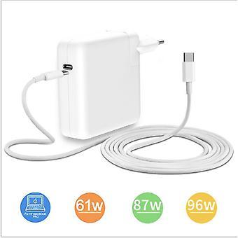 61w Netzteil Ladegerät für Apple Macbook USB Typ C zu C Ladegerät Pd Netzteil +typc C zu Typ C Kabel (2m)
