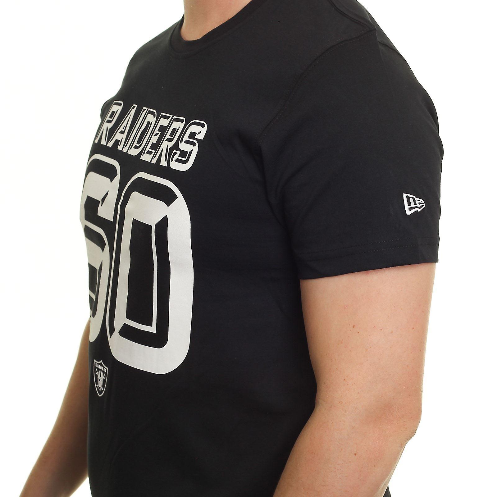 New Era 3D Number T-Shirt ~ Oakland Raiders