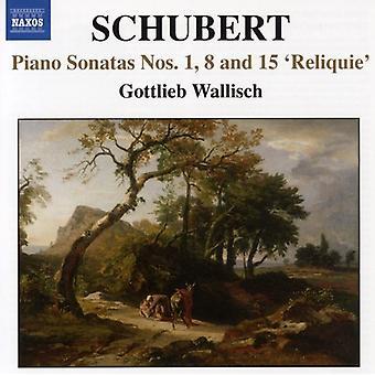 F. Schubert - Schubert: Piano Sonatas Nos. 1, 8 & 15 'Reliquie' [CD] USA import
