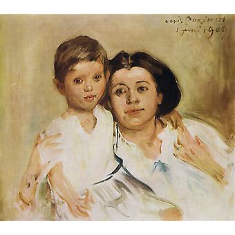 Lovis Corinth - Charlotte Berend Poster Print Giclee