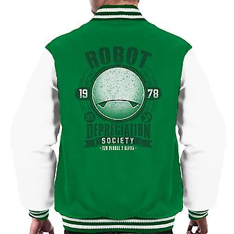 Robot Depreciation Society Hitchhikers Guide Men's Varsity Jacket