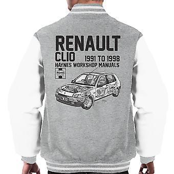 Haynes eigenaren Workshop handmatige Renault Clio Black mannen Varsity Jacket
