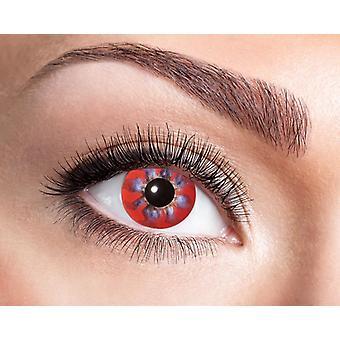 Rotating pinwheel contact lens