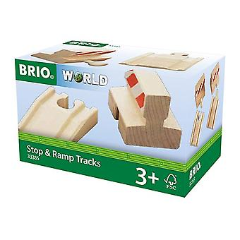 Brio World Railway Track - Ramp & Stop Pack