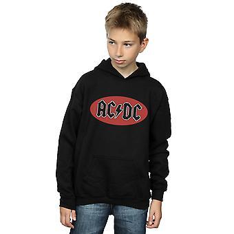 AC/DC meninos círculo vermelho Logo Hoodie