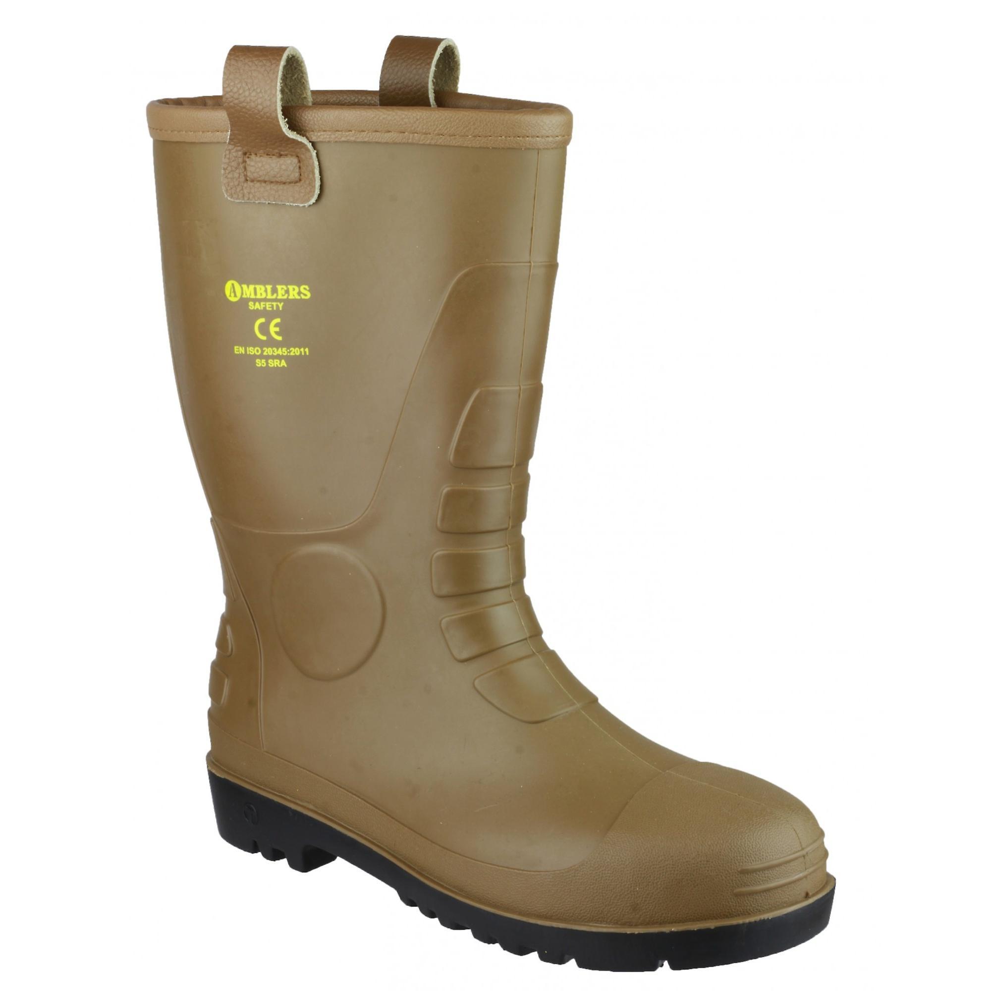 95 footsure Tan Wellingtons sécurité PVC Rigger / bottes de sécurité Mens