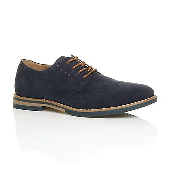 Ajvani Mens Runde Zehe Schnürschuh intelligente Arbeit formale Kontrast Oxford Schuhe Halbschuhe