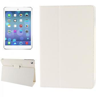 Dække kunst lædertaske hvid for Apple iPad luft