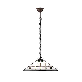 Interiör 1900 Mission enda ljus Tiffany tak hänge med