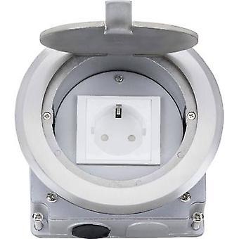 LEDmaxx 105628 1 x Bodensteckdose IP20 Aluminium