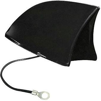 Eufab 521203 Plastic Car shark fin antenna Black (W x H x D) 115 x 75 x 65 mm