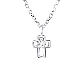Cross - 925 Sterling hopea Jewelled kaulakorut - W33280x