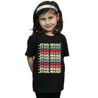 Star Wars tytöt Retro toista Logo t-paita