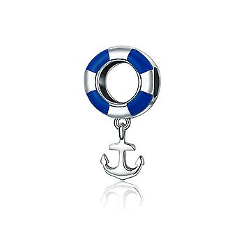Ciondolo in argento Sterling anchor Navy