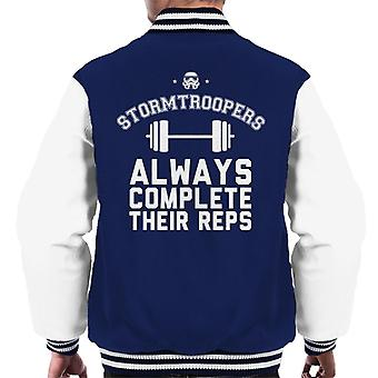 Original Stormtrooper Trooper vervollständigen ihre Wiederholungen Männer Varsity Jacket