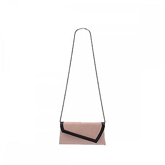Magrit Leather Fold Over Clutch With Chain