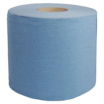 Staples 2 Ply Blue Centrefeed Rolls 180m x 200mm