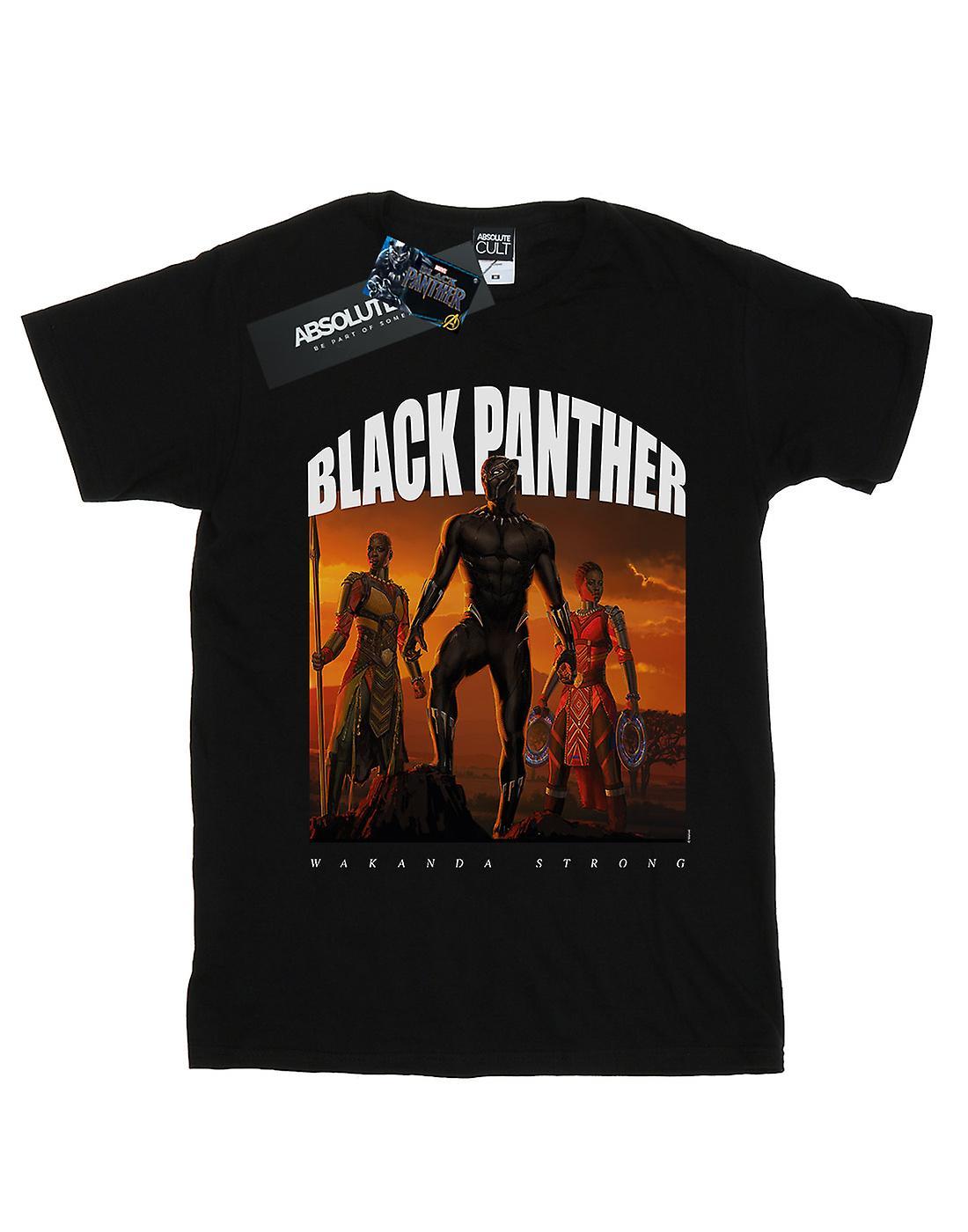 Marvel Girls Black Panther Wakanda Strong T-Shirt