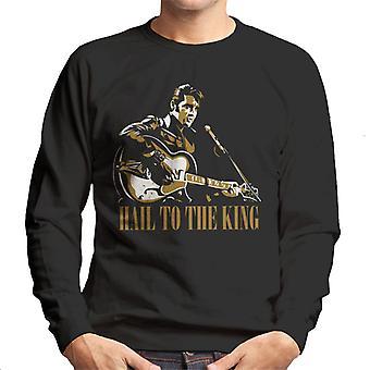 Hail To la re Elvis Presley Felpa uomo