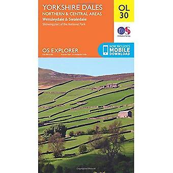 Yorkshire Dales Northern & Central (OS Explorer Map)