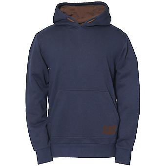 Caterpillar Mens Cotton Blend Warm Drawcord Basic Hoodie
