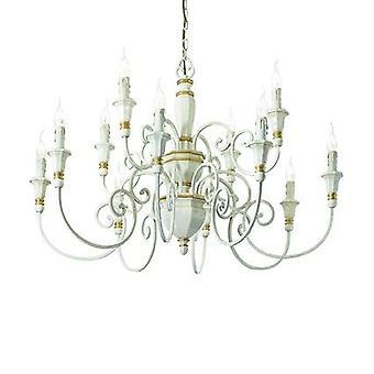 Ideal Lux - Palio blanc lustre lumière douze IDL093789