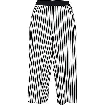Urban classics ladies trouser stripe pleated culotte