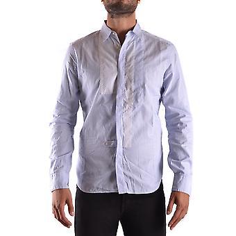 Neil Barrett Ezbc058033 Men's Light Blue Cotton Shirt