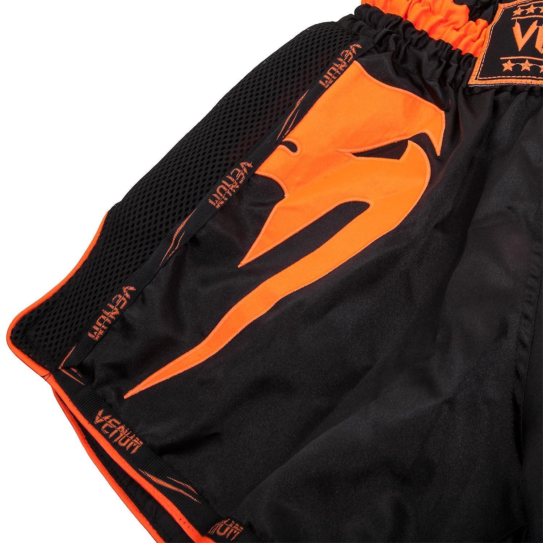 Black//Neo Orange Venum Giant Muay Thai Shorts