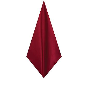 Dobell Mens Burgundy Pocket Square Handkerchief Dupion Satin-Feel Fabric