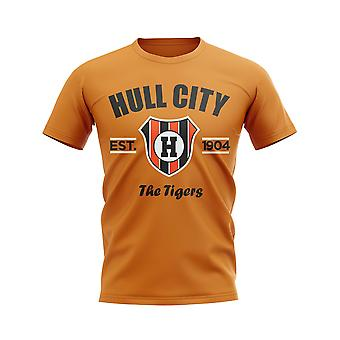Hull City Established Football T-Shirt (Orange)