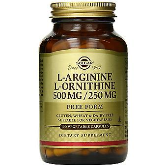 Solgar L-Arginine/L-Ornithine 500/250 mg Vegetable Capsules 100 Ct