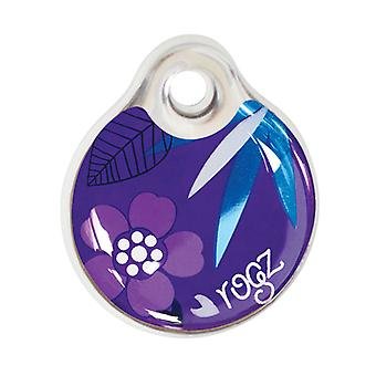 Rogz ID-Tag de Design Florestal Dog Collar Tag, Roxo Instantâneo