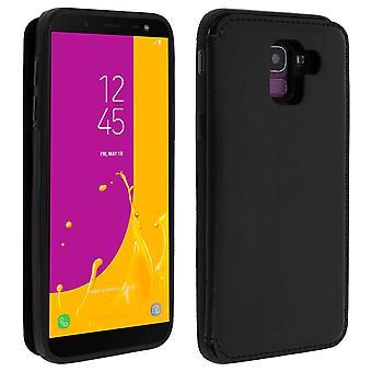 Samsung Galaxy J6 Shockproof Case, Card Holder Wallet, Forcell, Black
