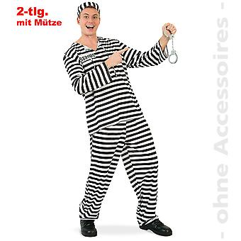 Vězeňský kostýmní zajatec muži, kostým bratru mužů